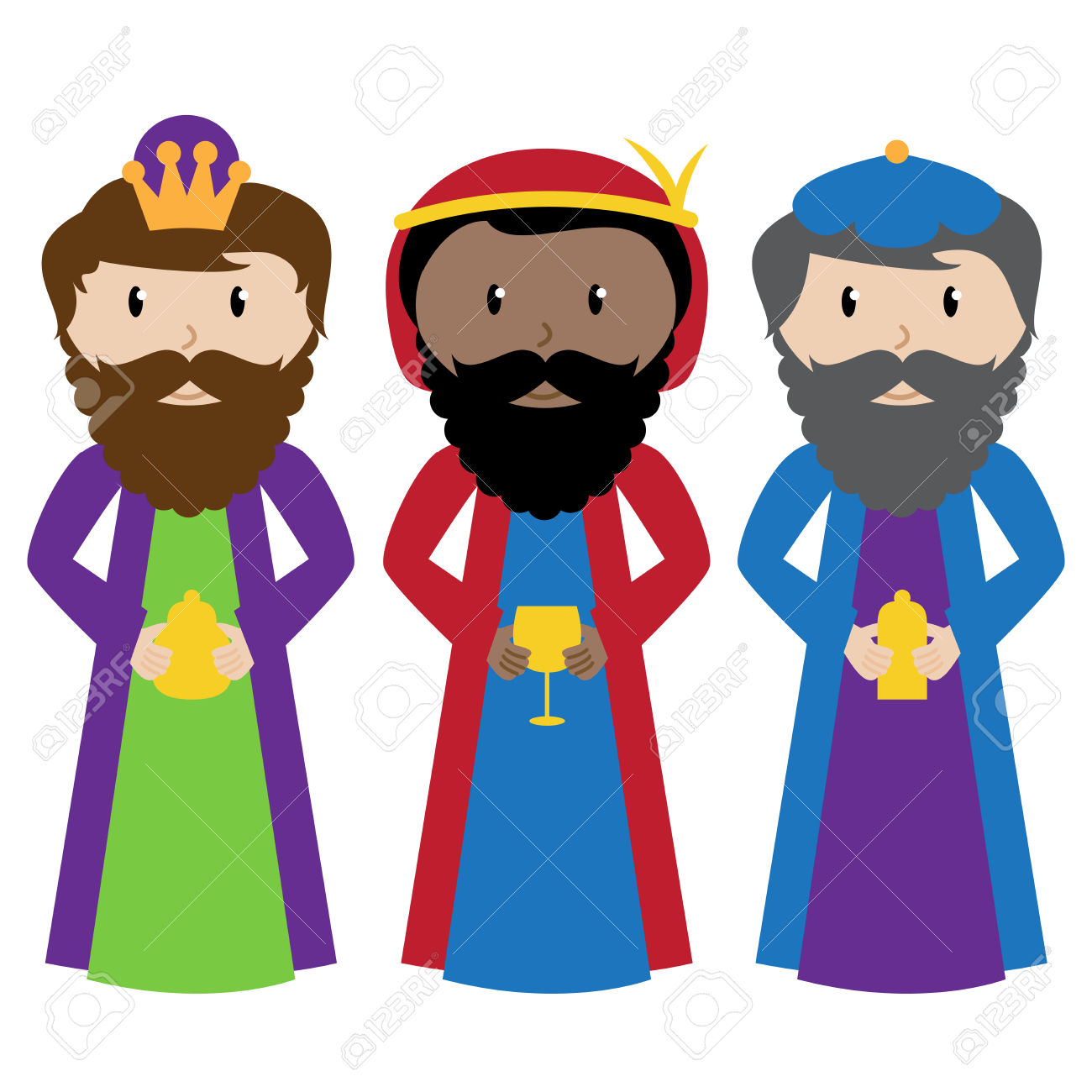 three wise men: Vector Collection of the Three Wise Men or Magi Illustration