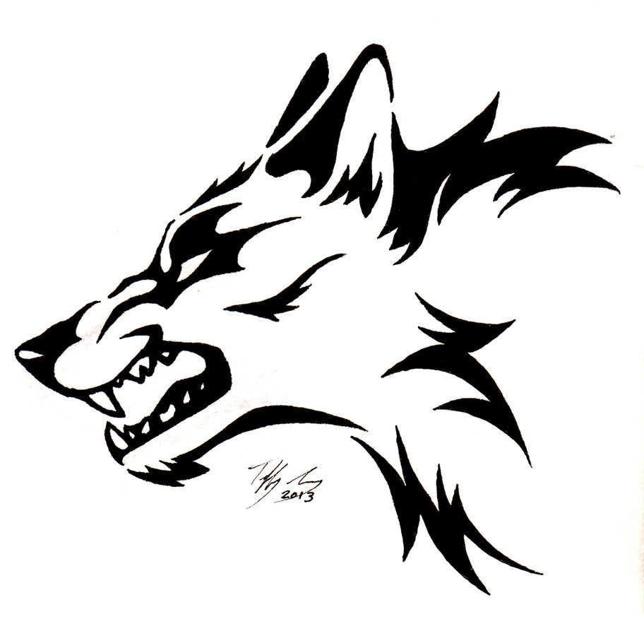 Three Wolf Heads Clipart ...