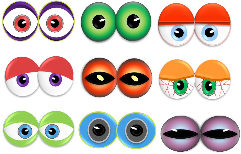 image about Eye Printable known as Monster Eyes Clipart Overall look At Clip Artwork Shots - ClipartLook