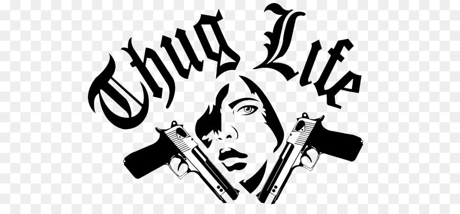 Thug Life Clip art - Thug Life Text PNG Image