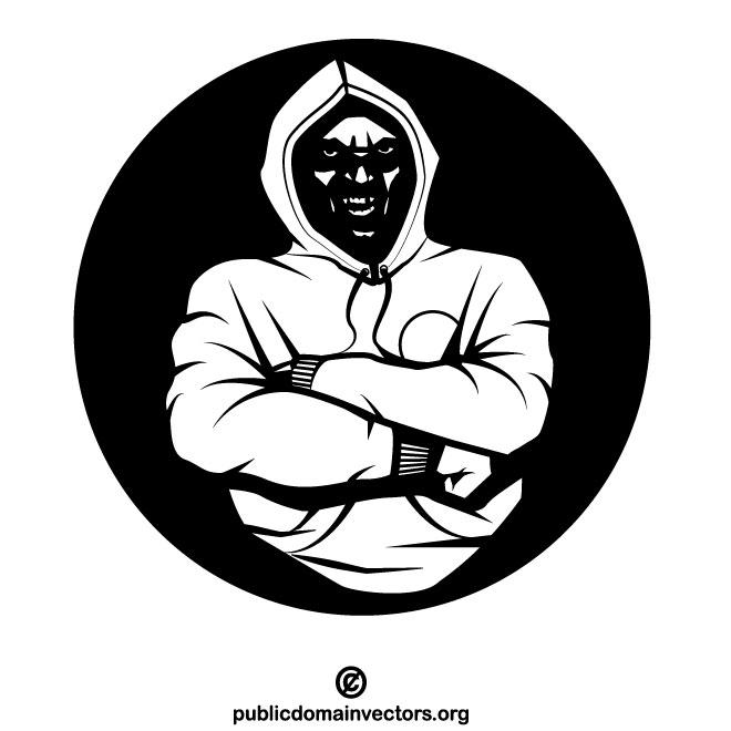 Thug vector clip art