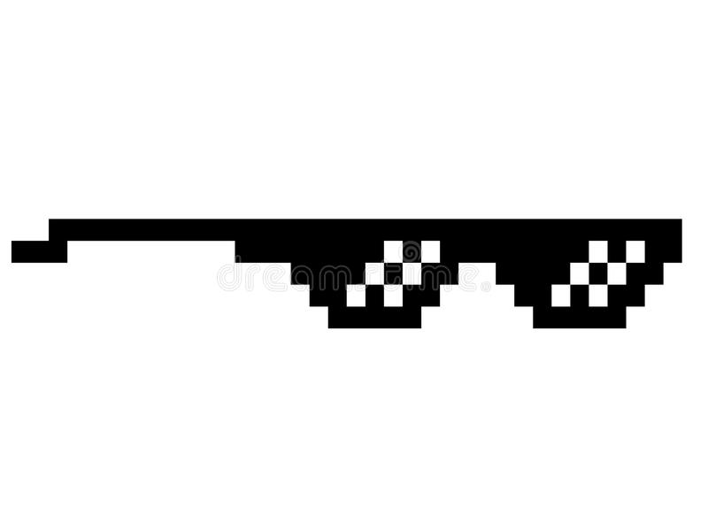 Download Black Thug Life Meme Like Glasses In Pixel Art Stock Vector -  Illustration of dealer