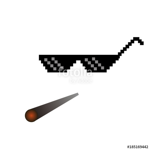 glasses pixel vector icon Pixel Art Glas-glasses pixel vector icon Pixel Art Glasses of Thug Life Meme and smoke -  Isolated on-13