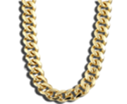 Thug Life Gold Chain transparent