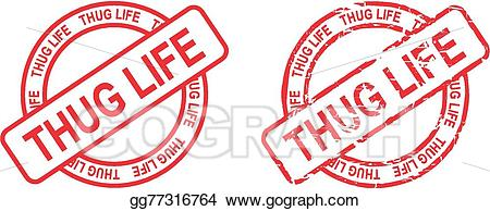 thug life stamp sticker