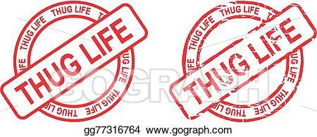 Thug Life Stamp Sticker-thug life stamp sticker-14