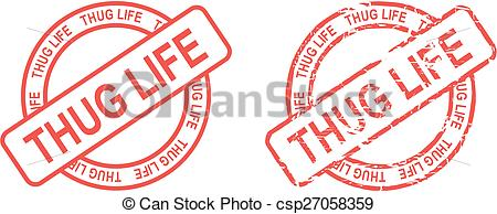 thug life stamp sticker - csp27058359