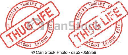 Thug Life Stamp Sticker - Csp27058359-thug life stamp sticker - csp27058359-15