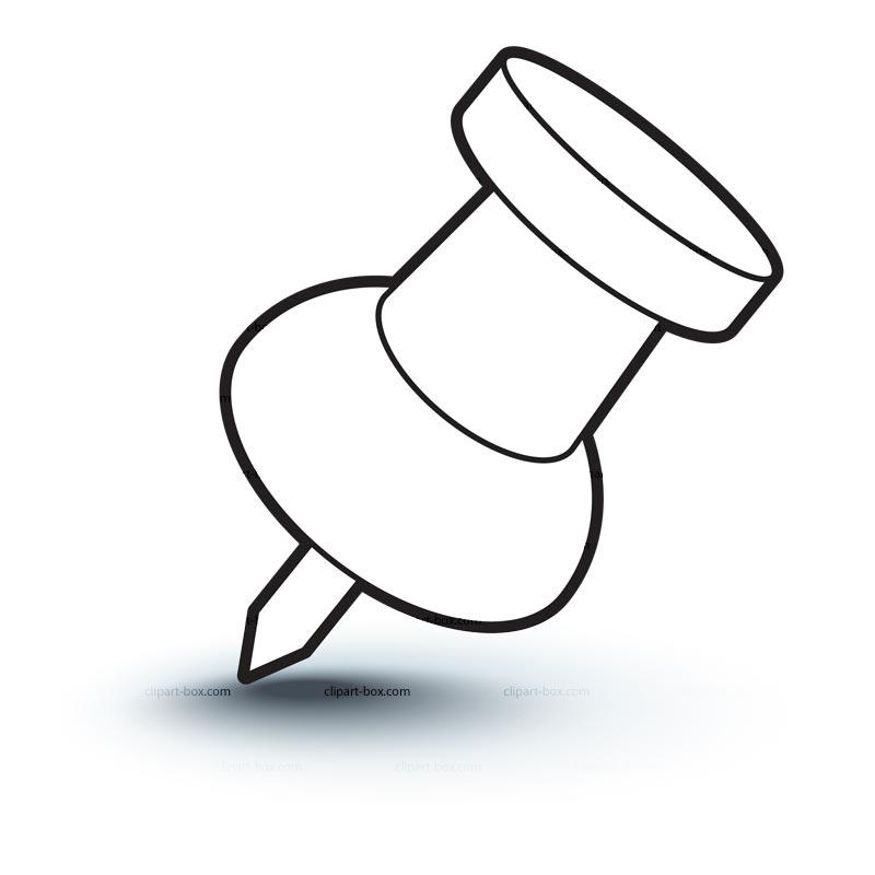 Thumb Tack Clip Art Clipart Thumbtack Icon