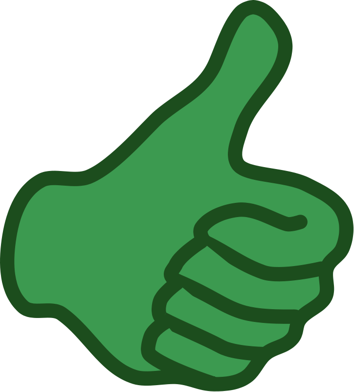 ... Thumbs up clipart ...