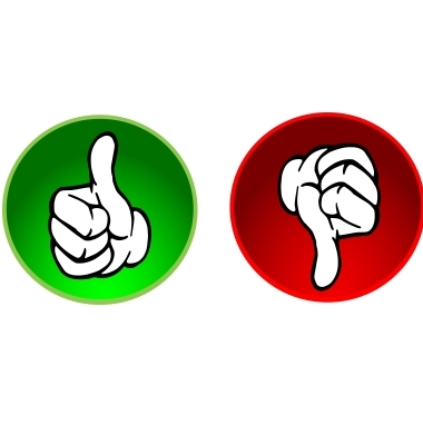 Thumbs up down clipart clipart