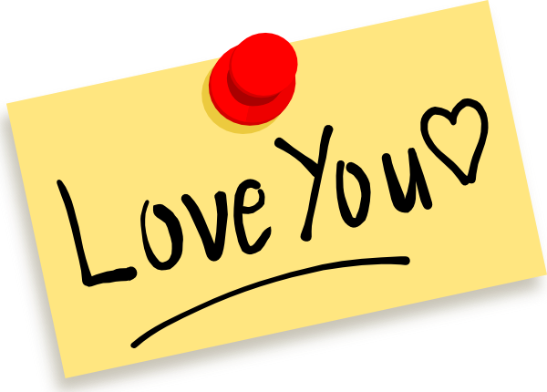 Thumbtack Note Love You Clip  - I Love You Clipart Animated