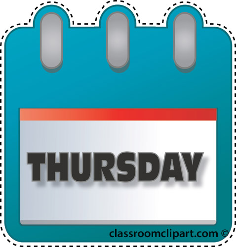 Thursday Calendar Clipart