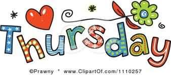 Thursday Colorful Clipart