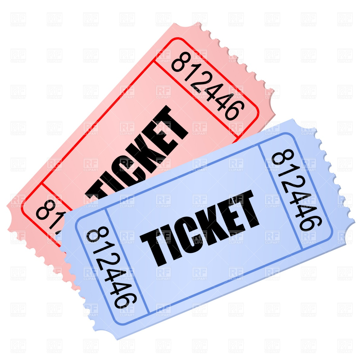 51 tickets clipart clipartlook