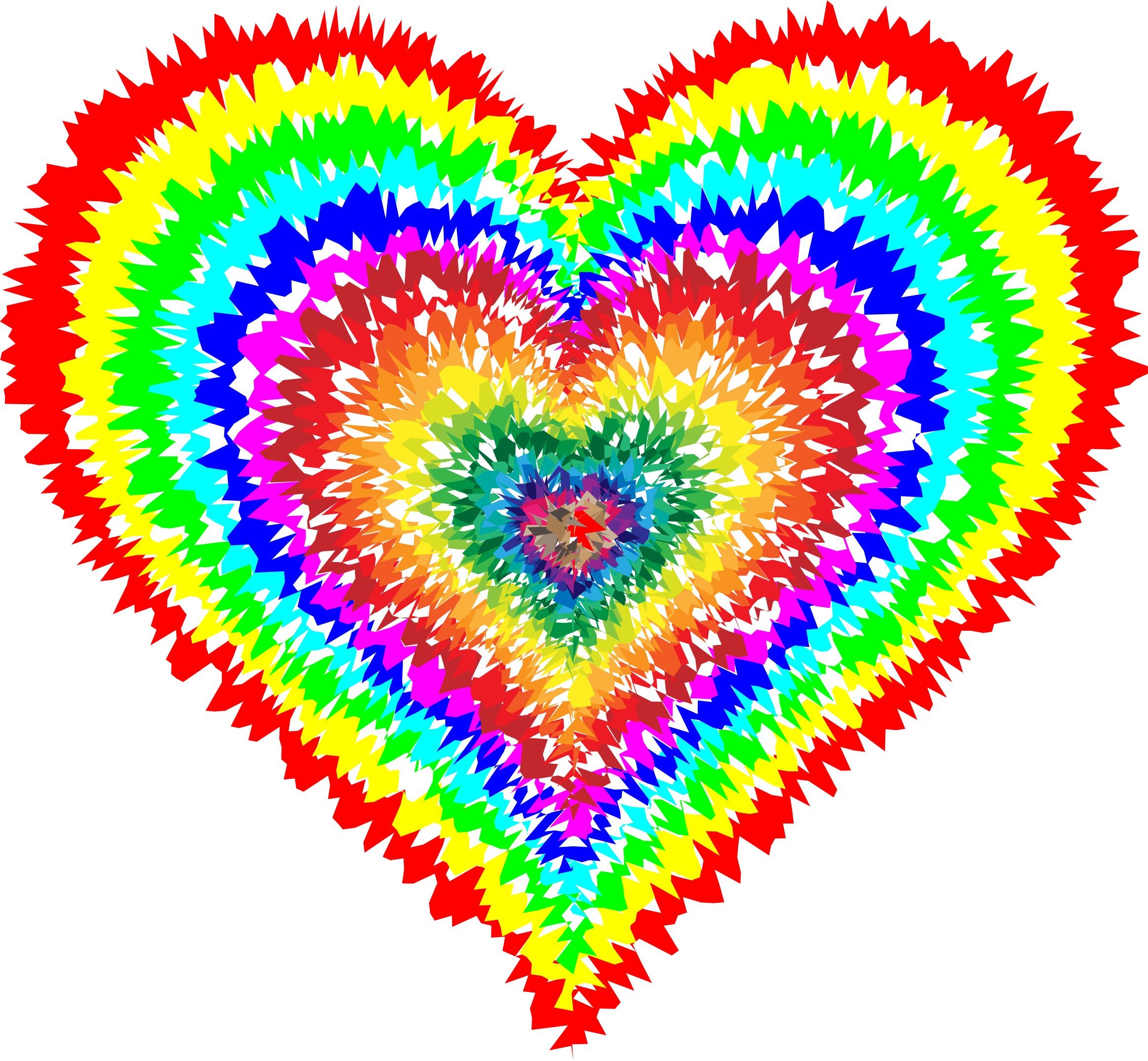 Tie Dye Heart By Gdj