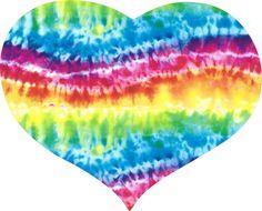 Tie Dye Heart Decal Sticker 5 .