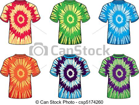 ... Tie-dye Shirts - A variety of different colored tie-dye.