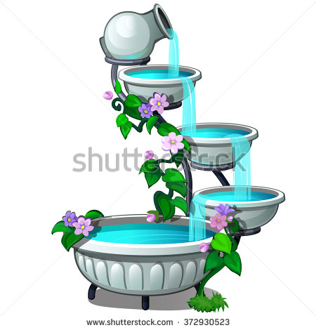 Tiered fountain. Vector.