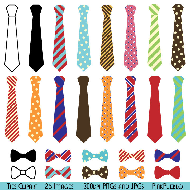 Ties Clipart Clip Art, Bow Ties Clip Art Clipart - Commercial and Personal Use