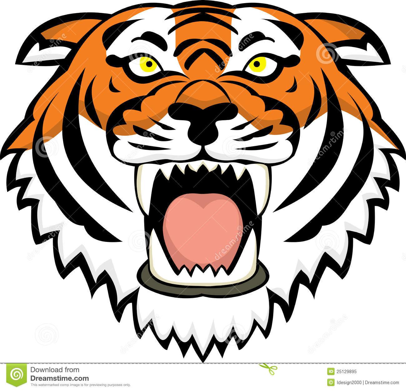 tiger face clip art color