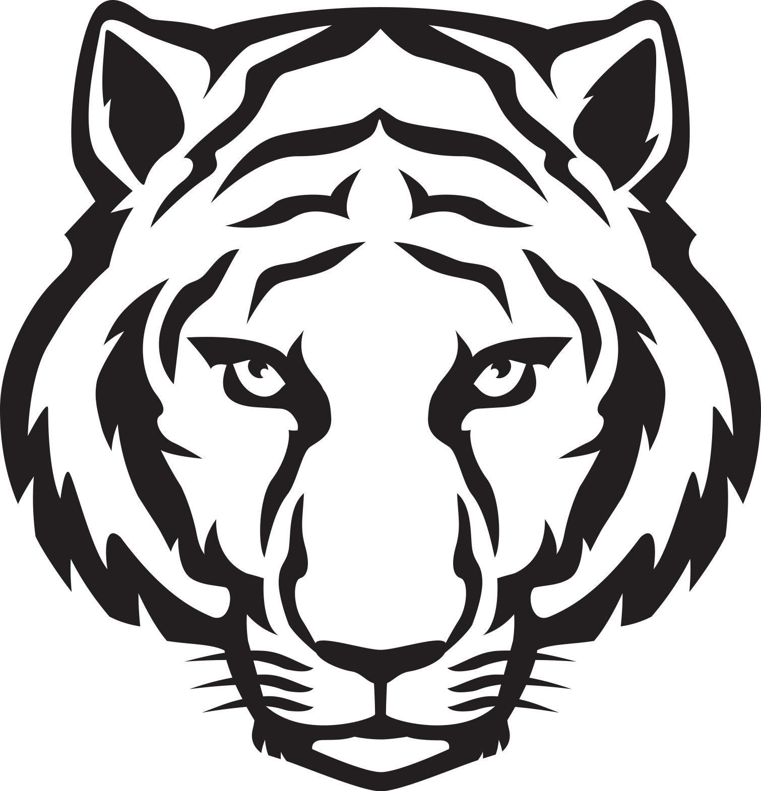 Tiger black and white tiger .-Tiger black and white tiger .-5