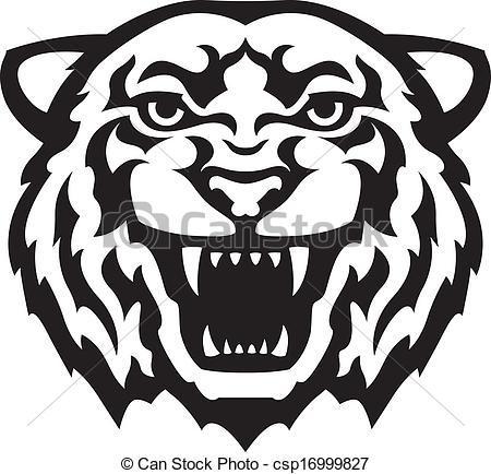 Tiger Clip Art Black And White Animalgal-Tiger Clip Art Black And White Animalgals-14