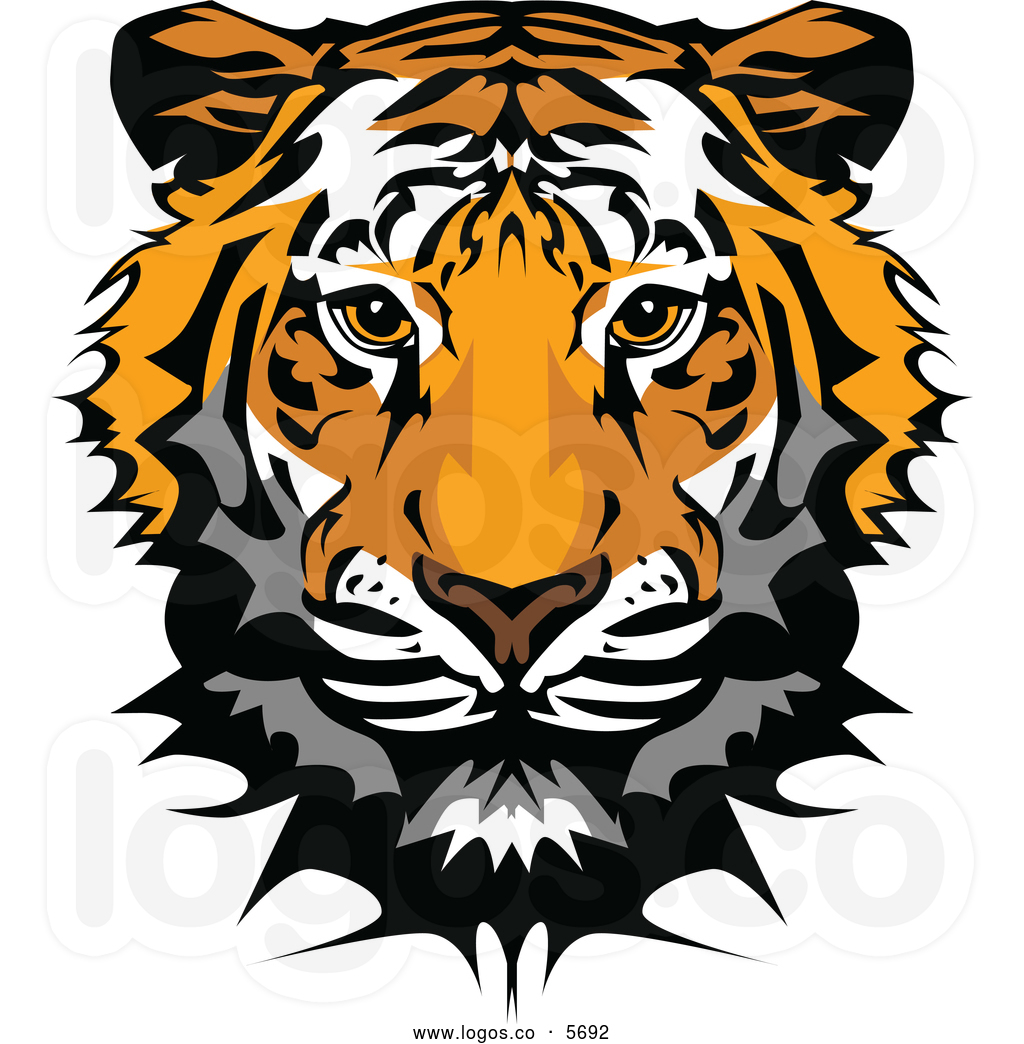 Tiger Face Clip Art Royalty .