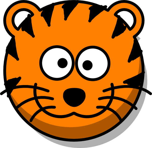 Tiger Head No Tail Clip Art At Clker Com Vector Clip Art Online