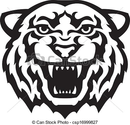 ... Tiger head tattoo - Black and white tiger head tattoo.... Tiger head  tattoo Clip Artby ...