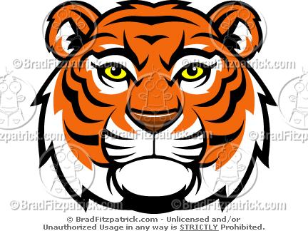 Tiger Mascot Head