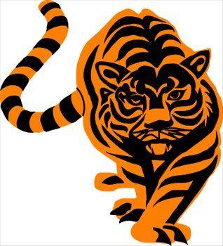 tiger paw clip art | cool tiger clipart)