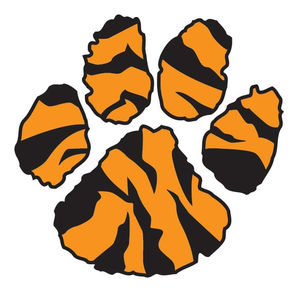 Tiger Paw Print Clip Art Cliparts Co
