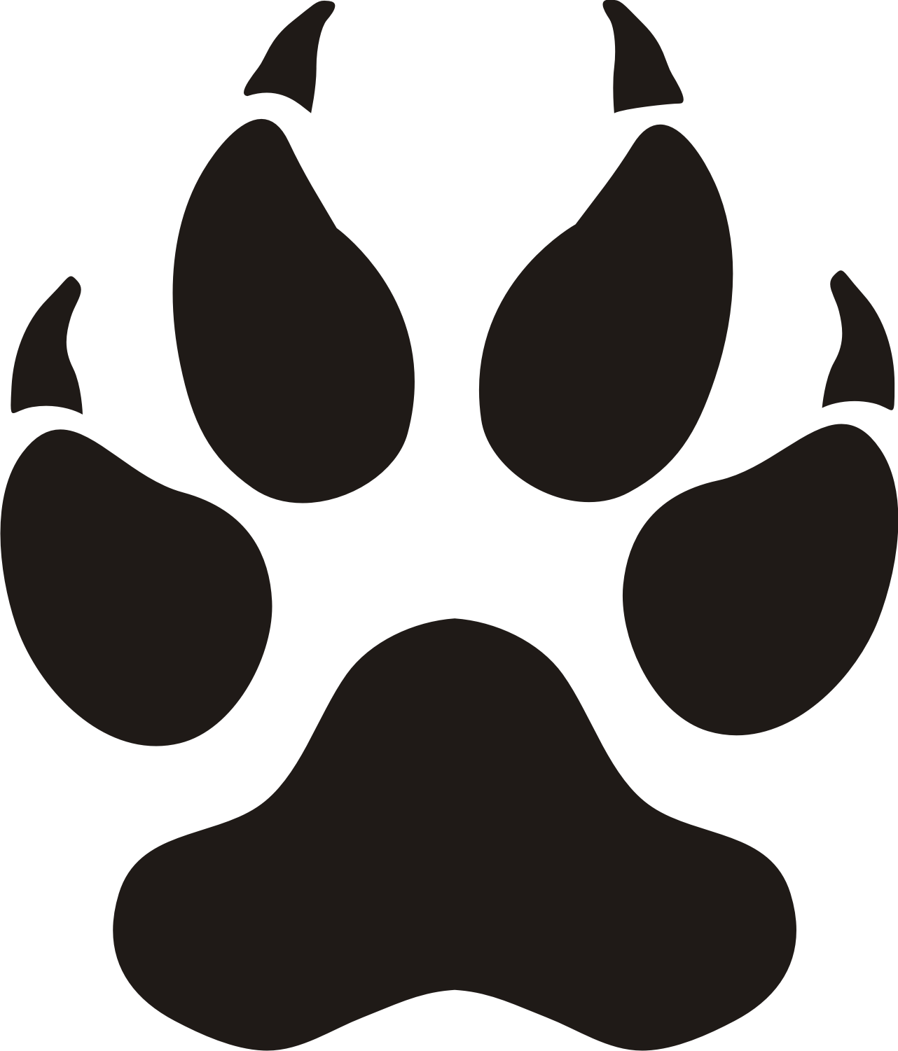 Tiger Paw Print Clipart; Tiger paw clipart - ClipartFox ...