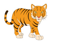 tiger sitting with paws tail clipart. Si-tiger sitting with paws tail clipart. Size: 73 Kb-4