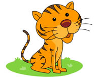 tiger sitting with paws tail clipart. Si-tiger sitting with paws tail clipart. Size: 73 Kb-18