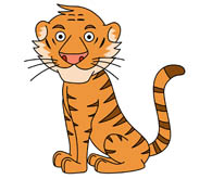tiger sitting with paws tail clipart. Si-tiger sitting with paws tail clipart. Size: 73 Kb-16
