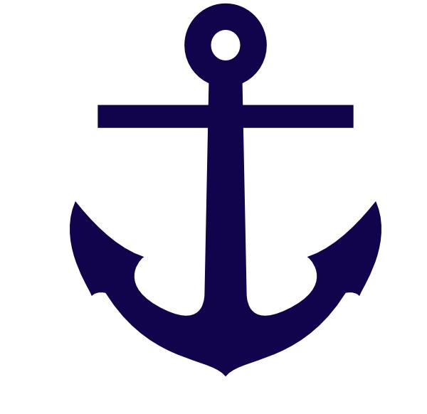 Tilted Anchor Clip Art. navy blue sailboat% .