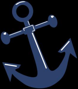 Tilted Anchor clip art .