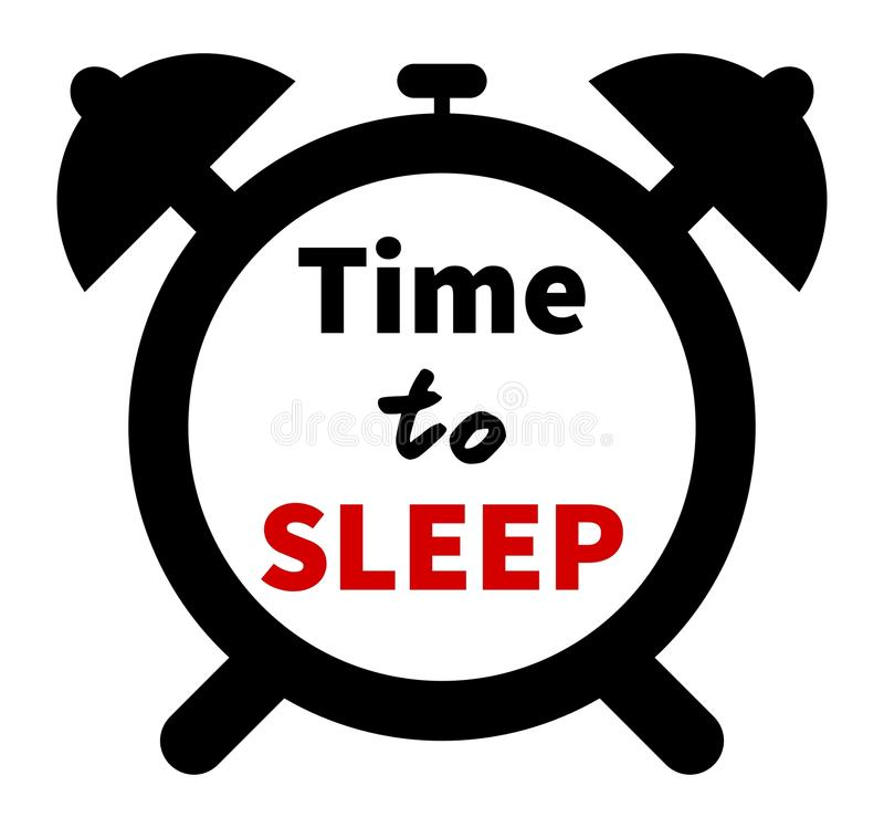 Download Minimalistic Illustration Of A Clock With Time For Sleep Text.  Isolated Stock Vector -