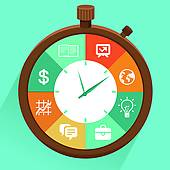 Time management · Vector flat concept - time management