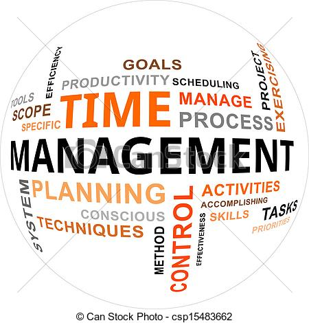 Time Management A Word Cloud Of Time Csp15483662 Search Clipart