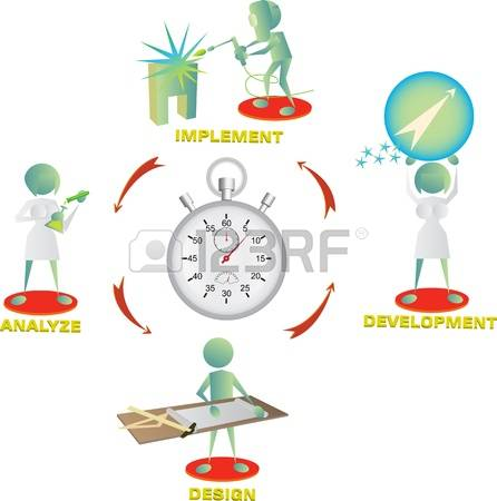 time management: team is racing against time Illustration