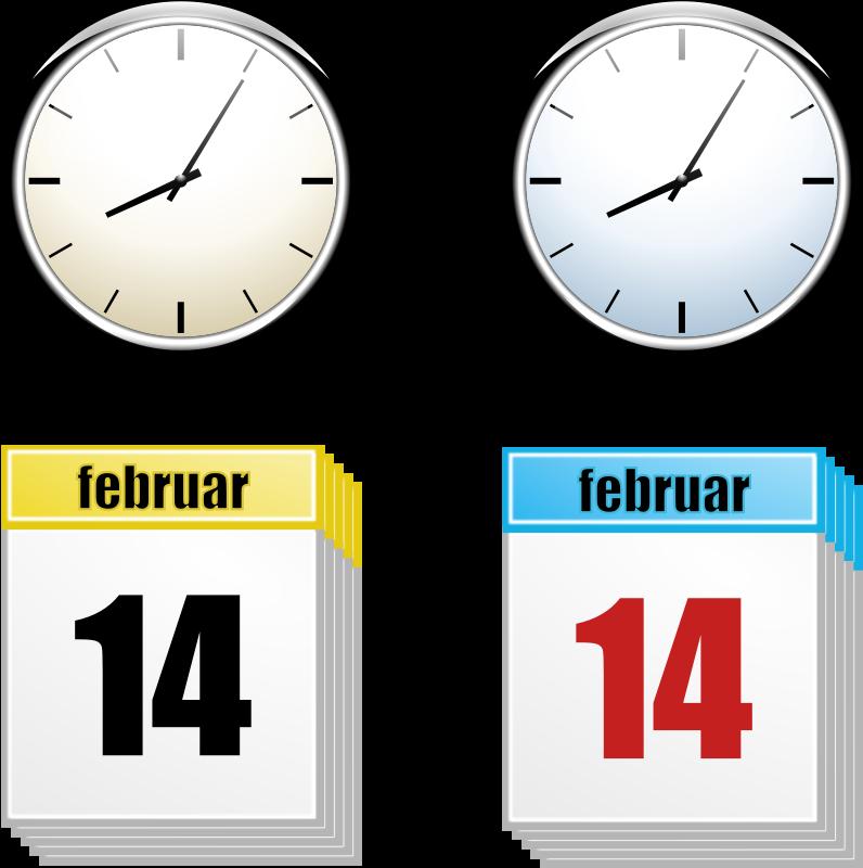 Timeline Clipart Rihard Clock Calendar Png