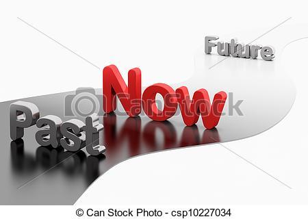 Timeline Concept: 3d Word Past-Now-Futur-Timeline concept: 3d word Past-Now-Future - Word.-16