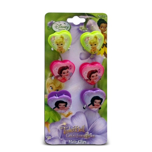 Tinkerbell Heart Shaped Hair Clips-Tinkerbell Heart Shaped Hair Clips-8