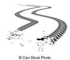 ... Tire tracks. illustration on white background