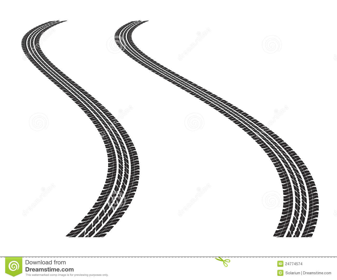 Tire Tracks Stock Images Image 24774574