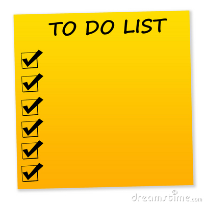 To Do List Clip Art