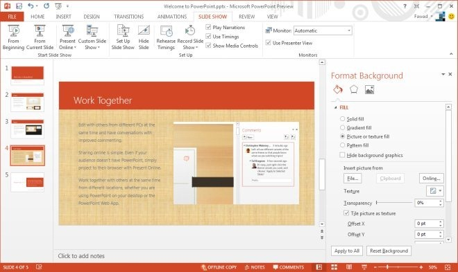 to PowerPoint - New Panes